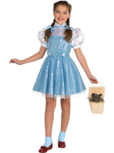 Dorothy Sequin Dress - Size L-Costumes - Girls-Jokers Costume Mega Store