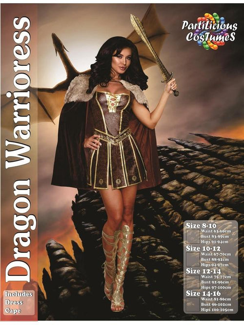 Dragon Warrioress-Costumes - Women-Jokers Costume Hire and Sales Mega Store