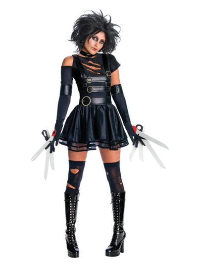 Edward Scissorhands Secret Wishes Costume- Size M-Costumes - Women-Jokers Costume Hire and Sales Mega Store