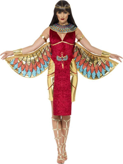Egyptian Goddess Costume, Red-Costumes - Women-Jokers Costume Hire and Sales Mega Store