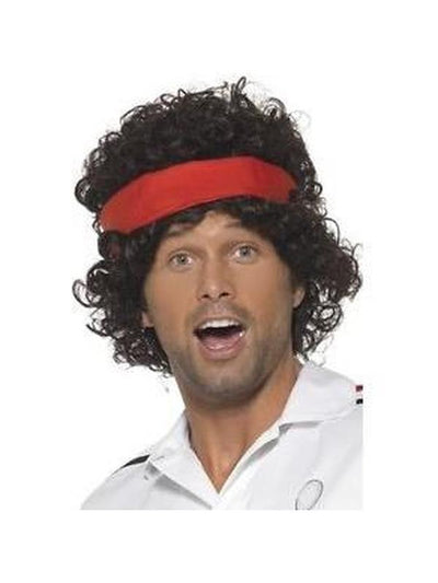 Eighties Tennis Player Wig-Wigs-Jokers Costume Hire and Sales Mega Store