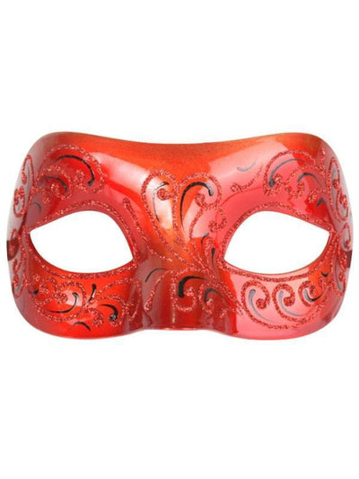 ELEGENZA Red Eye Mask-Masks - Masquerade-Jokers Costume Hire and Sales Mega Store