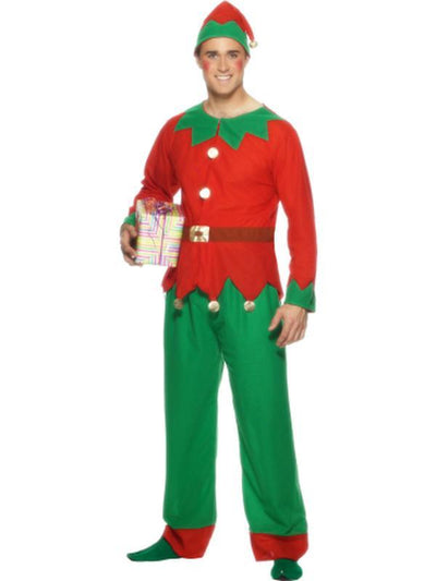 Elf Costume, Top, Trousers & Hat-Costumes - Mens-Jokers Costume Hire and Sales Mega Store