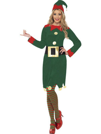 Elf Costume, with Dress, Hat & Belt-Jokers Costume Mega Store