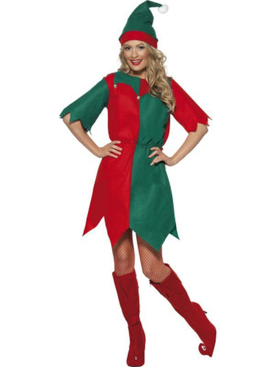 Elf Costume, with Hat & Tunic-Costumes - Women-Jokers Costume Hire and Sales Mega Store