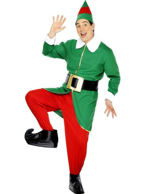 Elf Costume, with Jacket, Trousers, Hat, Belt & Bootcovers-Costumes - Mens-Jokers Costume Hire and Sales Mega Store