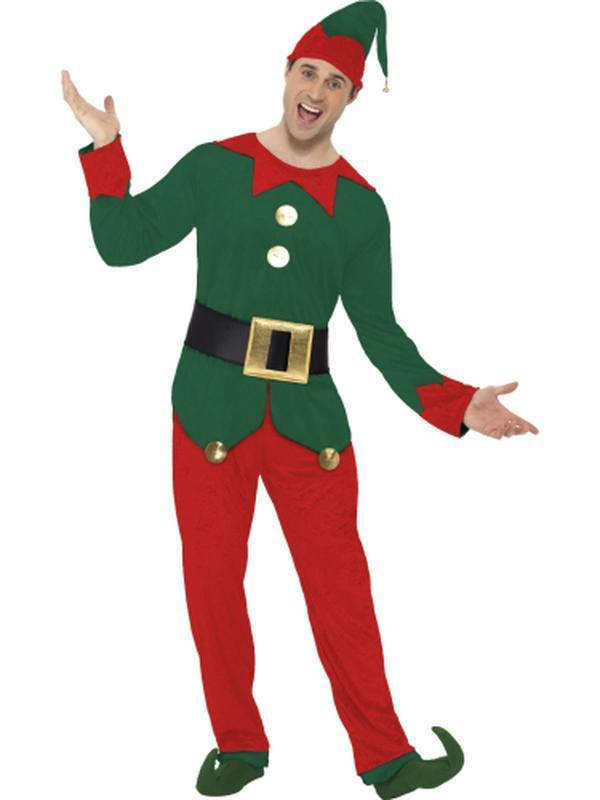 Elf Costume, with Top, Trousers, Hat & Belt-Costumes - Mens-Jokers Costume Hire and Sales Mega Store