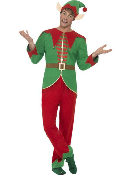 Elf Costume, with Trousers, Top, Hat & Ears-Costumes - Mens-Jokers Costume Hire and Sales Mega Store