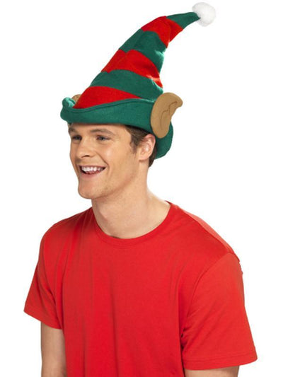 Elf Hat - Red & Green-Hats and Headwear-Jokers Costume Hire and Sales Mega Store