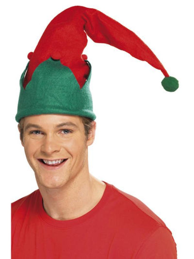 Elf Hat - Red-Hats and Headwear-Jokers Costume Hire and Sales Mega Store