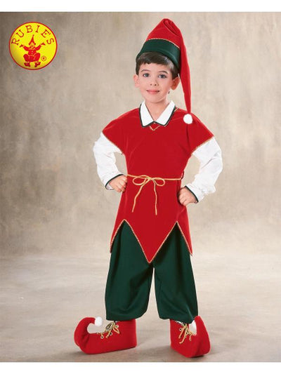ELF VELVET COSTUME - SIZE M-Costumes - Boys-Jokers Costume Hire and Sales Mega Store