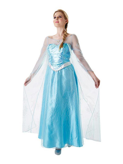 Elsa Deluxe Adult Costume - Size L-Costumes - Women-Jokers Costume Hire and Sales Mega Store