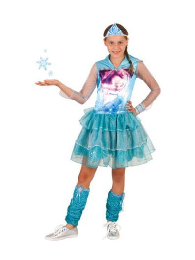 Elsa Hooded Dress - Size 9-11-Costumes - Girls-Jokers Costume Hire and Sales Mega Store