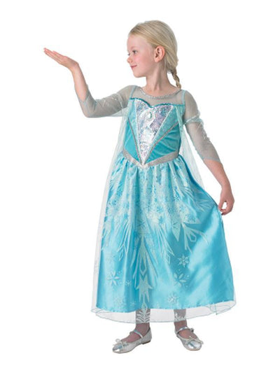 Elsa Premium Costume - Age 7-8-Costumes - Girls-Jokers Costume Hire and Sales Mega Store