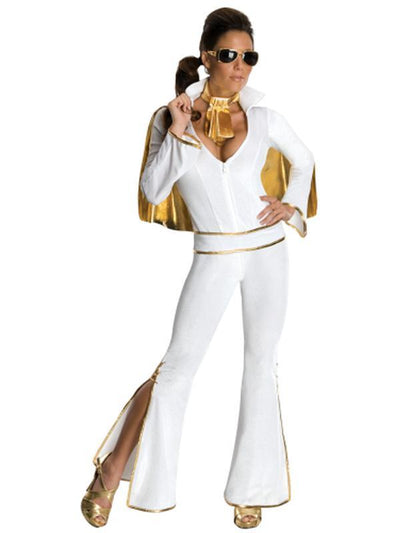 Elvis White Secret Wishes - Size S-Costumes - Women-Jokers Costume Hire and Sales Mega Store
