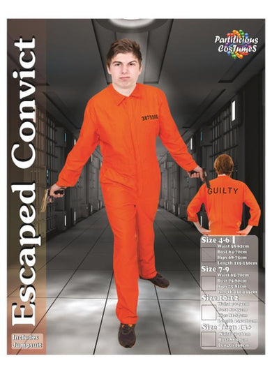Escaped Convict Teen Boy-Costumes - Boys-Jokers Costume Hire and Sales Mega Store