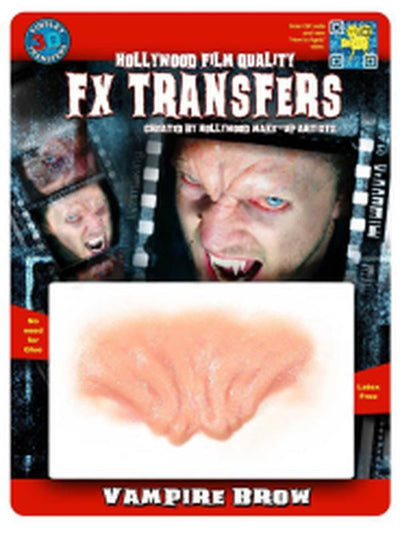 Evil Brow 3D FX Transfer - Medium-Jokers Costume Mega Store
