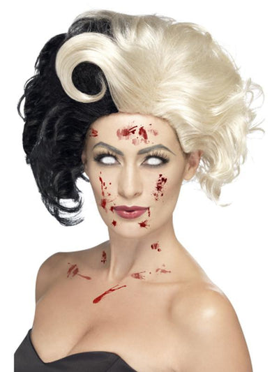 Evil Madame Wig - Black & Blonde-Wigs-Jokers Costume Hire and Sales Mega Store