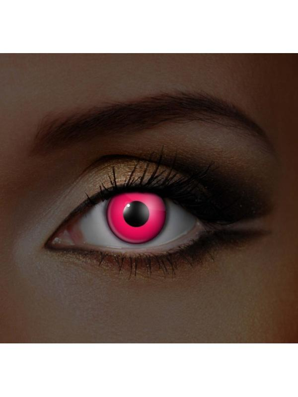 Eye Fusion 3 Month - i-Glow Pink UV-Contact Lens - Eye Fusion 3 Months-Jokers Costume Hire and Sales Mega Store