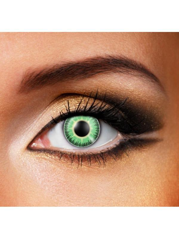 Eye Fusion 3 Month - Natural Green/Yellow-Contact Lens - Eye Fusion 3 Months-Jokers Costume Hire and Sales Mega Store