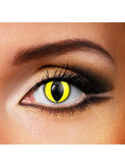 Eye Fusion 3 Month - Yellow Cat Eye-Jokers Costume Mega Store