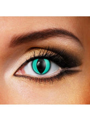 Eye Fusion One Day - Aqua Cat-Contact Lens - Eye Fusion One Day-Jokers Costume Hire and Sales Mega Store