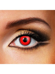 Eye Fusion One Day - Blood Red-Contact Lens - Eye Fusion One Day-Jokers Costume Hire and Sales Mega Store