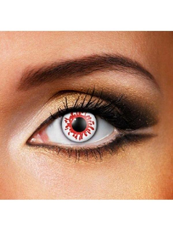 Eye Fusion One Day - Blood Splat-Contact Lens - Eye Fusion One Day-Jokers Costume Hire and Sales Mega Store
