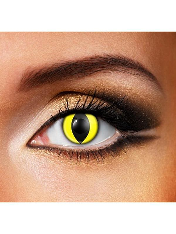 Eye Fusion One Day - Yellow Cat Eye-Contact Lens - Eye Fusion One Day-Jokers Costume Hire and Sales Mega Store