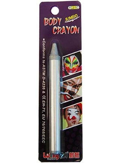 **Face & Body Crayon - Silver**-Make up and Special FX-Jokers Costume Hire and Sales Mega Store