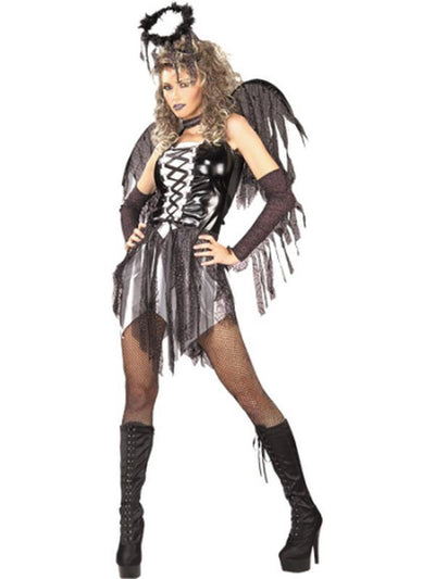 Fallen Angel Secret Wishes Costume- Size S-Costumes - Women-Jokers Costume Hire and Sales Mega Store