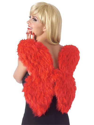 Feather Wings - Red-Costume Accessories-Jokers Costume Mega Store