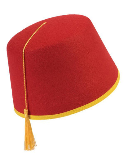 Felt Fez Hat - Red-Hats and Headwear-Jokers Costume Hire and Sales Mega Store