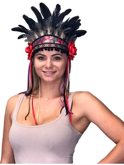 Festival Headpiece - Rose Queen-Hats and Headwear-Jokers Costume Mega Store