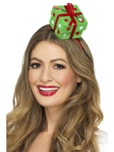 Festive Present Headband-Hats and Headwear-Jokers Costume Hire and Sales Mega Store