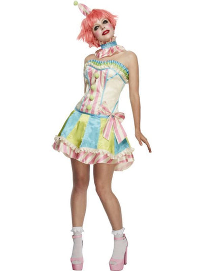 Fever Deluxe Vintage Clown Costume, with Corset-Costumes - Women-Jokers Costume Hire and Sales Mega Store