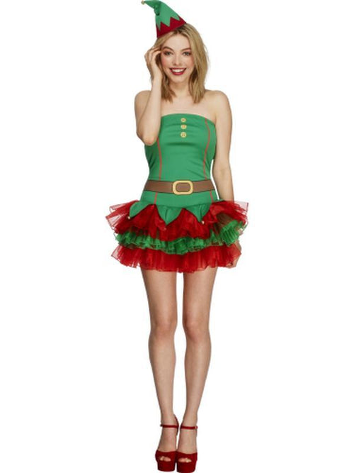Fever Elf Costume-Costumes - Women-Jokers Costume Hire and Sales Mega Store