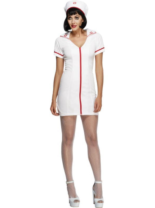 Fever No Nonsense Nurse Costume-Costumes - Women-Jokers Costume Hire and Sales Mega Store