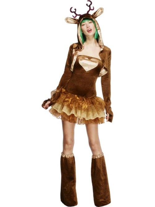 Fever Reindeer Costume, Tutu Dress-Costumes - Women-Jokers Costume Hire and Sales Mega Store