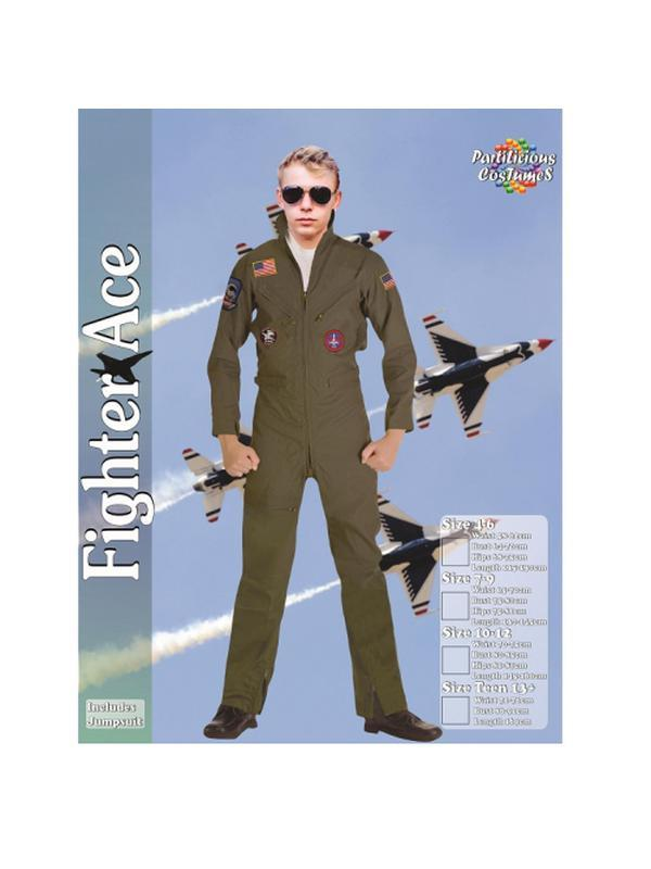 Fighter Ace - Teen-Costumes - Boys-Jokers Costume Hire and Sales Mega Store
