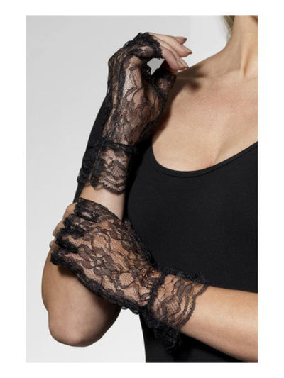 Fingerless Lace Gloves-Armwear-Jokers Costume Hire and Sales Mega Store