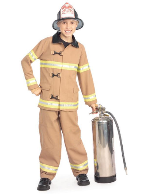 Fire Fighter Costume Child - Size M-Costumes - Boys-Jokers Costume Hire and Sales Mega Store