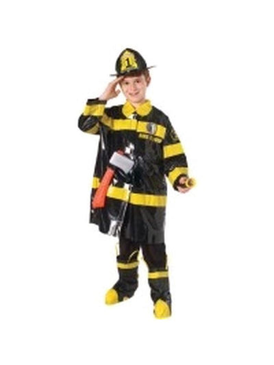 Fire Fighter Deluxe Costume - Size M-Costumes - Boys-Jokers Costume Hire and Sales Mega Store