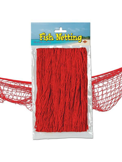 Fish Netting - Red-Decorations - Themes-Jokers Costume Hire and Sales Mega Store