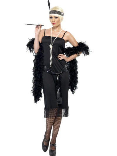 Flapper Costume - Black-Costumes - Women-Jokers Costume Hire and Sales Mega Store