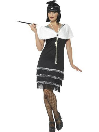 Flapper Costume - Fur Stole-Costumes - Women-Jokers Costume Mega Store