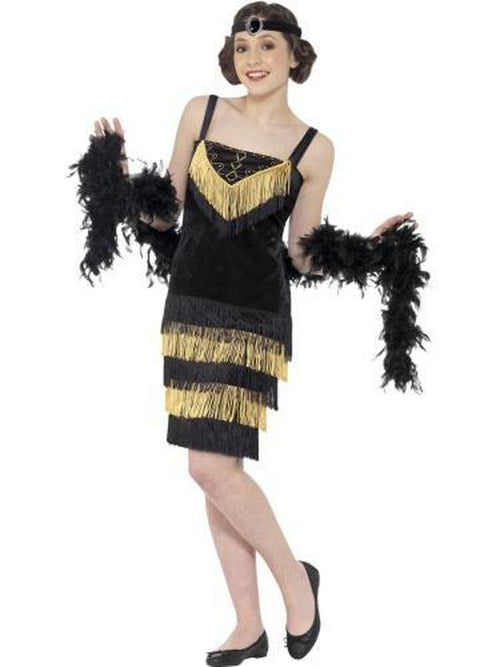 Flapper Girl Costume - Black-Costumes - Girls-Jokers Costume Hire and Sales Mega Store