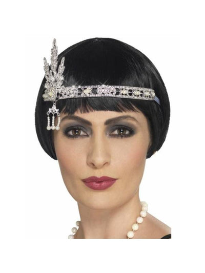 Flapper Jewel Headband-Hats and Headwear-Jokers Costume Hire and Sales Mega Store