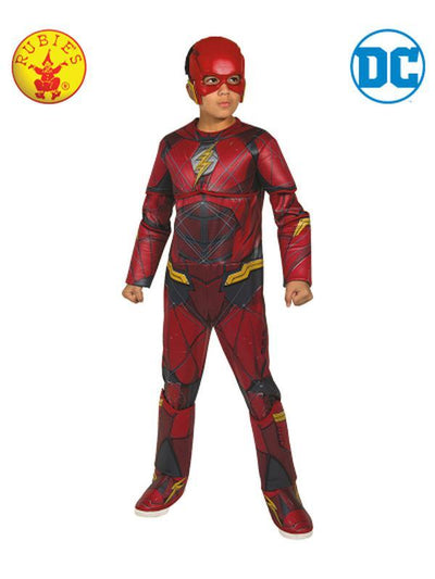 FLASH DELUXE COSTUME - SIZE 6-8-Costumes - Boys-Jokers Costume Hire and Sales Mega Store