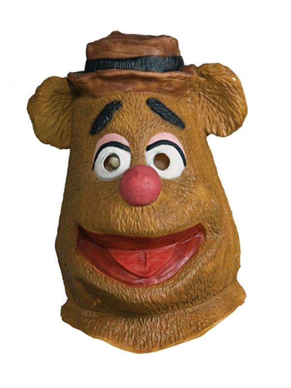 Fozzie Bear Muppets Overhead Mask-Masks - Latex-Jokers Costume Hire and Sales Mega Store